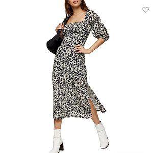 NWT Topshop Mesh Balloon Midi Dress